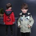 Los niños Ropa de Abrigo Cálido Abrigo Niños Ropa Infantil de Invierno Ropa de Niño Espesar Boy Algodón Chaqueta Acolchada Lammy Abrigo Niños Prendas de Vestir Exteriores