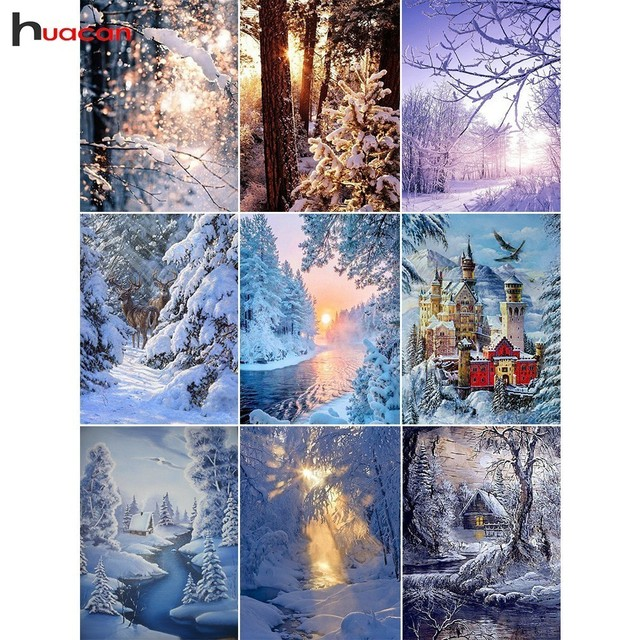 Diamond Painting Snow Scenery Winter Landscape