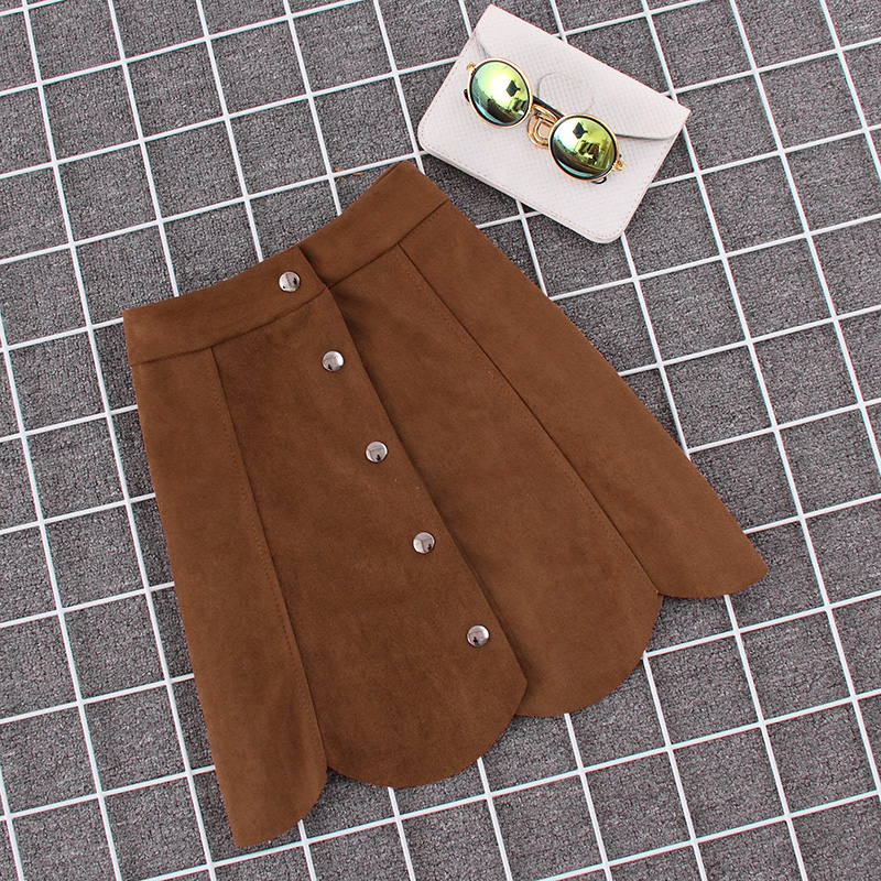 Brown High Waisted Skirt - Dress Ala