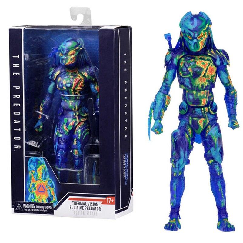 Figurine d'action SHF Figurats jouets Collections NECA prédateur Figure film Ver.