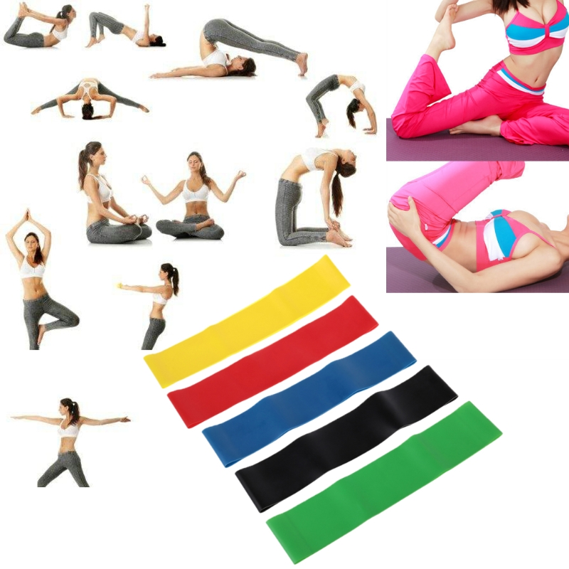 5-colors Resistance Band Latex Gym Strength Training Rubber Loops Bands Elastic Pull Rope