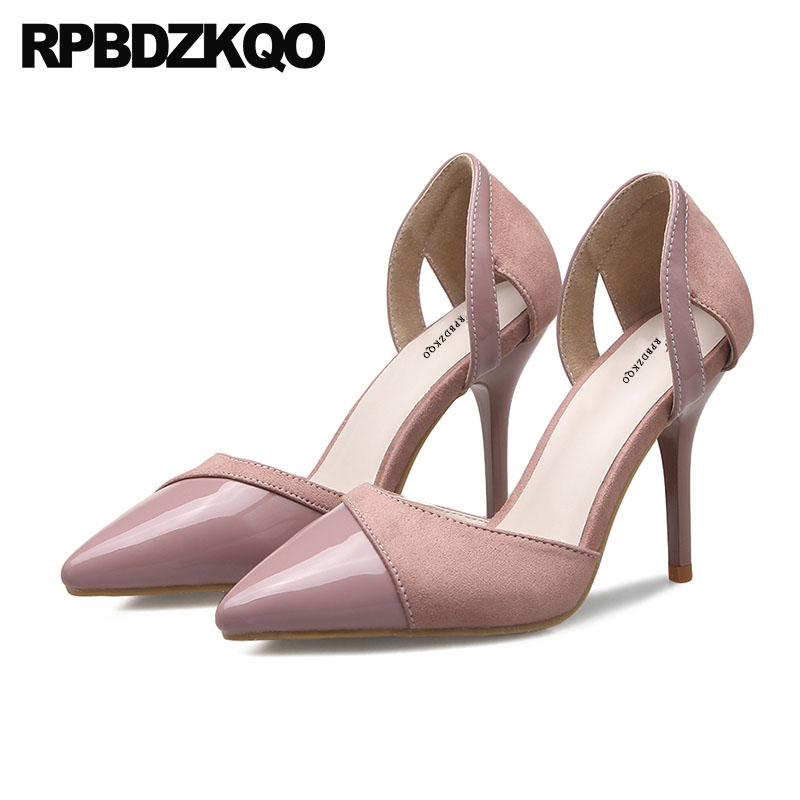 Office Size 33 Thin Pink 3 Inch D'orsay 2018 Women Pumps Multi Colored Court Shoes 4 34 Pointed Toe Plus High Heels Formal patent leather 2017 pumps size 33 pointed toe office work formal plus red low 4 34 dress shoes heels yellow high women court