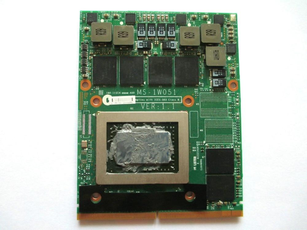 original GTX 570M GTX570M FOR GT60 GT70 GT683 GT680 GX680 GT780 GX780 MS 1W051 GDDR5 MXM