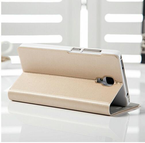 "Image 5 - Xiaomi mi4 Case Cover M4 MI 4 Luxury Slim Flip PU Leather Case Original size 5.0"" For Xiaomi Mi4 M4 Cover Bag screen protector-in Flip Cases from Cellphones & Telecommunications"