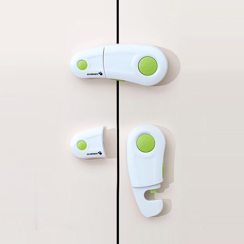1Pcs EUDEMON Cabinet Lock Baby Security Drawer Latches Child Safety Baby Protection From Children Safe Locks For Refrigerators
