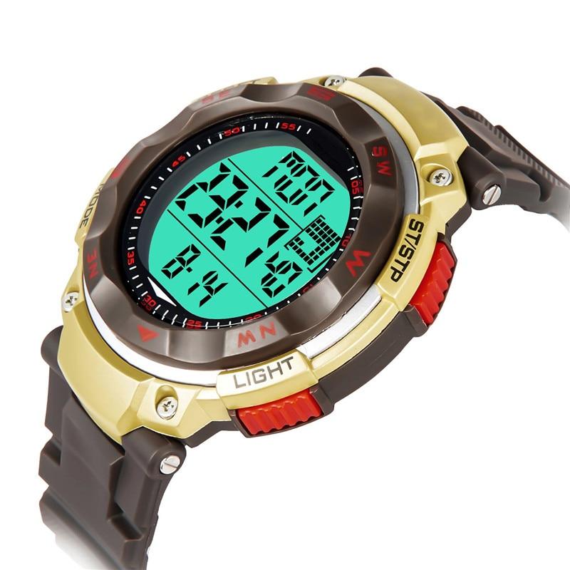 SB0034 Dubbeltid nedräkning Digitala armbandsur Män klockor - Herrklockor
