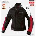 Wholesale Komine JK-036 Titanium Leather Mesh Motorcycle Jacket Men Motocross jackets MOTO GP racing jacket
