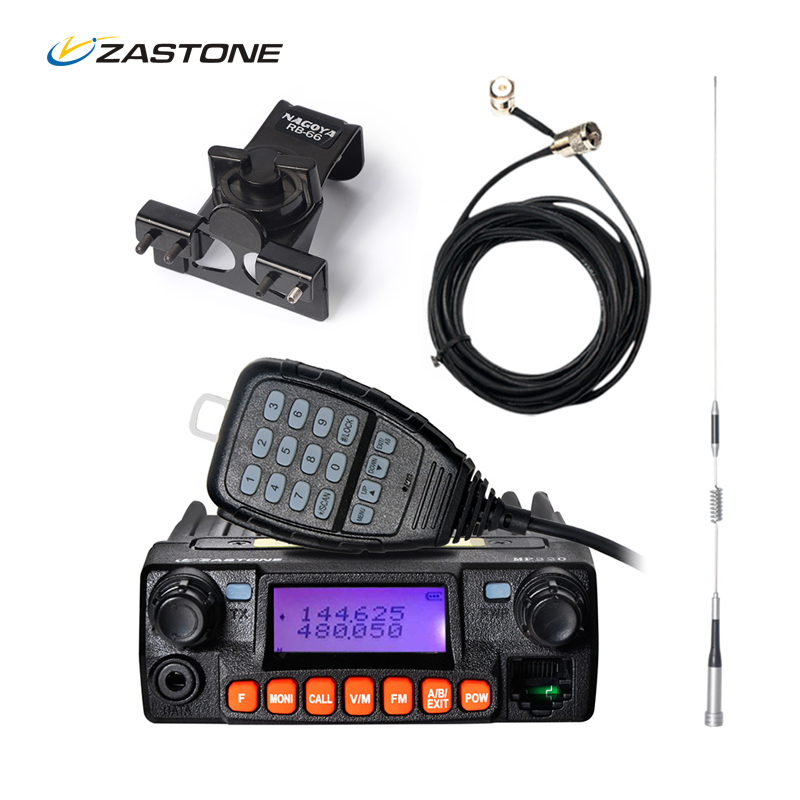 imágenes para MP320 20 W Mobile Car Radio Comunicador Zastone VHF UHF 136-174/400-480 MHZ 240-260 MHz dos Vías de Radio Walkie Talkie Transceptor HF
