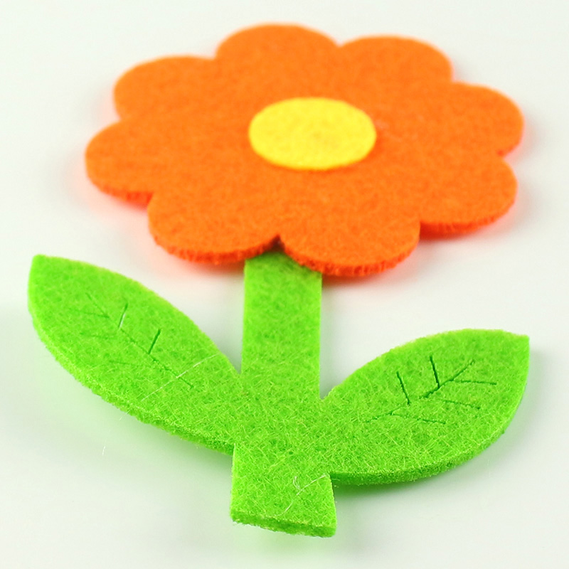High Quality 5pcs/lot Large Felt Flowers Patch Non-Woven Three-layer Flower Appliques Kids DIY Craft Accessories For DIY Sewing
