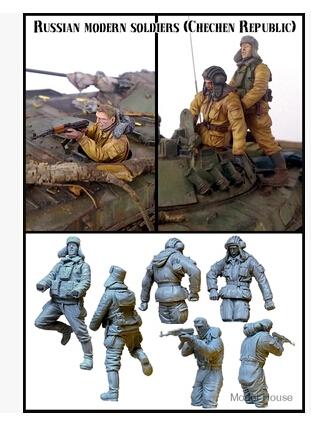 Kits 1/35 de resina moderna grupo de tanques de república da chechênia resina modelo frete grátis