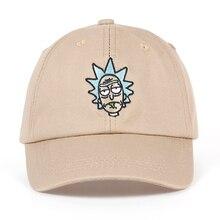 Рик и Морти новый хаки папа шляпу с ума Рик Бейсбол Кепки Американский Аниме хлопок Вышивка Snapback любителей аниме Кепки Для мужчин Для женщин