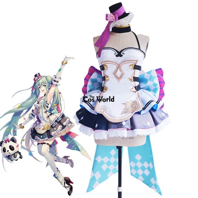 Hatsune Miku With You 2017 ShangHai Vocal Concert Vocaloid Dress Uniform Anime Outfit Cosplay Costumes