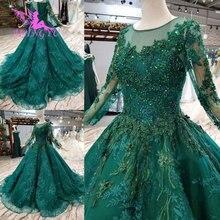 AIJINGYU יוקרה שמלות עם תכשיטי חנות שמלות חתונה מוסלמית רוסית פדרציה רגיל יותר אירוסין חתונה שמלה טייוואן