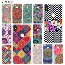 YIMAOC Mandala flower Soft Silicone Phone Case for