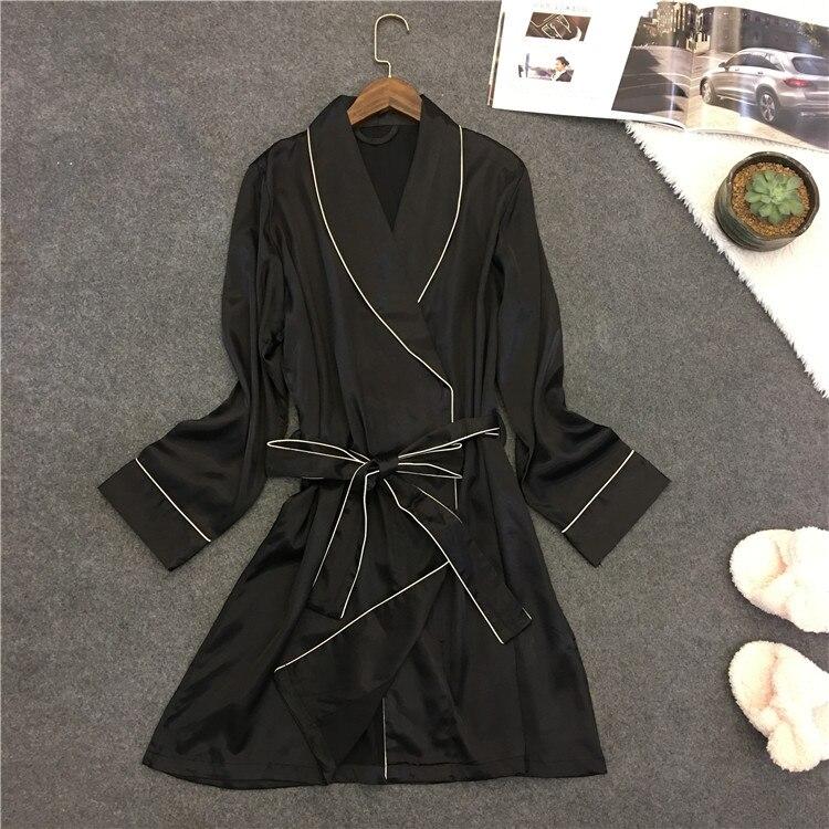 Women's Nightwear Robes Long Sleeve Bathrobes For Bridesmaids Wedding Sleepwear Summer Home Wear Robe