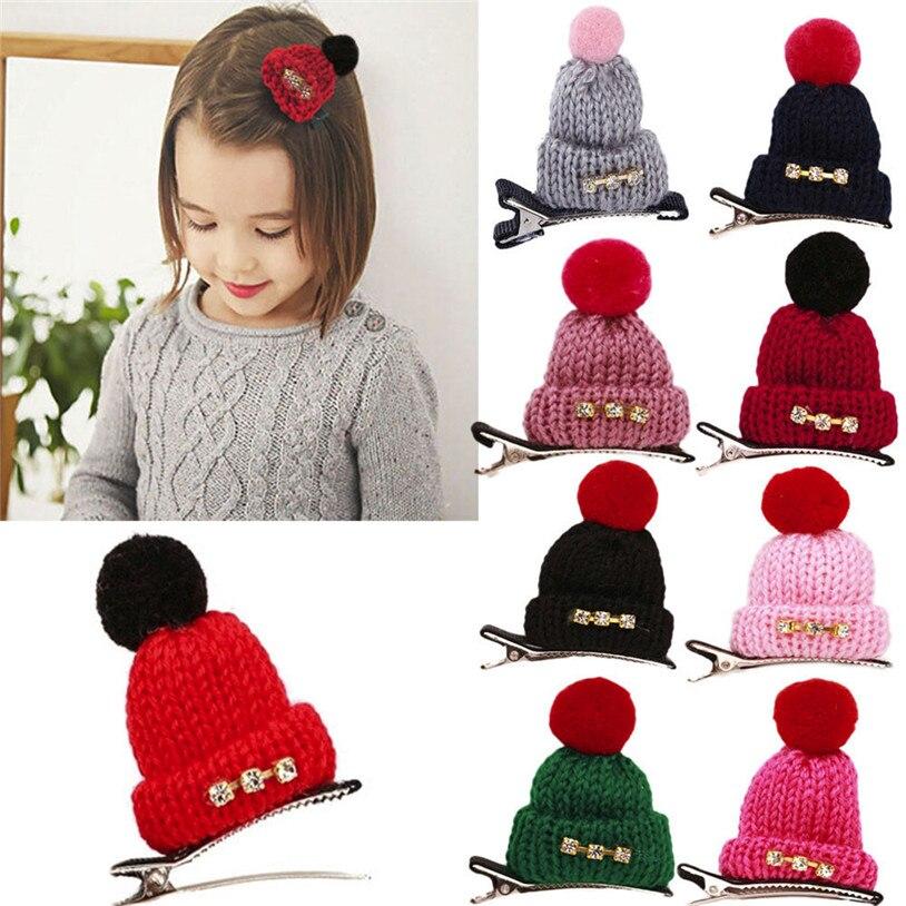 Baby Newborn Scarf Hat Warm Hat Cute Baby Girls Toddler Infant Kids Hat Shape Hairpin Hair Clip Accessories 30