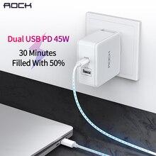 Kaya PD 45W çift USB şarj 2.4A hızlı şarj seyahat abd Plug iPhone 8X7 6 iPad akıllı USB duvar şarj Samsung Xiaomi