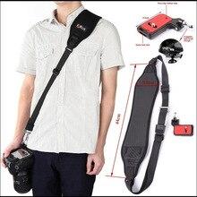 Foleto פוקוס F 2 מצלמה רצועה מהירה מהיר אחת כתף שחור חגורת רצועה עם F2 צלחת עבור Canon Nikon Sony Pentax DSLR מצלמה