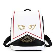 Для женщин кожаный рюкзак мультфильм Вышивка крыло школьная сумка подросток Обувь для девочек BookBag леди путешествия Рюкзаки Mochila Feminina