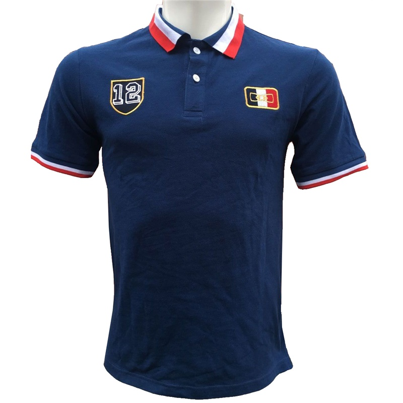 Eden park French brand Trend Short Sleeve Shirt Men's Embroidery   Polo   Shirts For Men jerseys Cotton Casual Tee Tops shirt   Polos