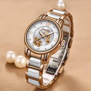 Image 5 - Sunkta 라인 석 로즈 골드 브랜드 럭셔리 시계 여성 스포츠 방수 시계 패션 캐주얼 시계 여성 시계 zegarek damsk