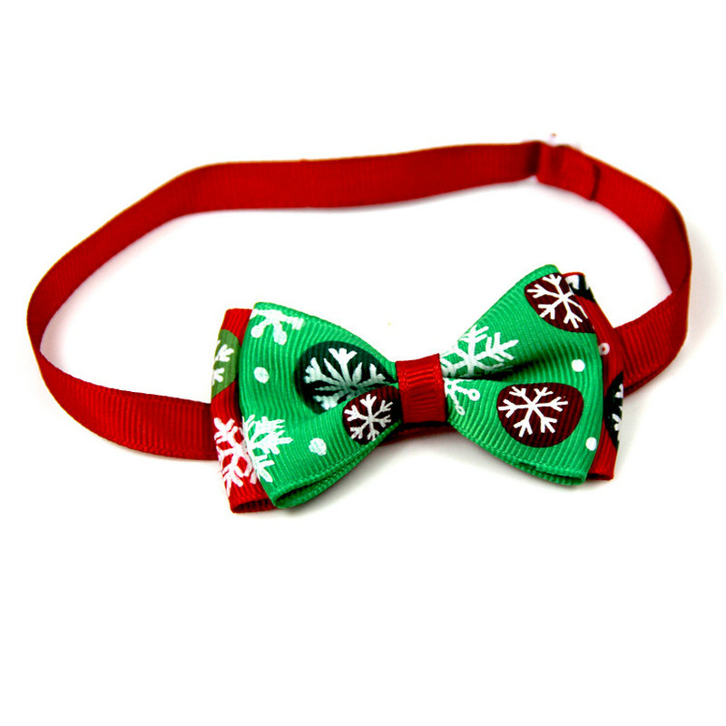 Festive Christmas Cat Bow Collars