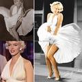 Vintage Hollywood Tapete Vermelho Vestidos Branco Chiffon Halter V Neck Plissadas Sexy Marilyn Monroe Celebridade Evening Vestidos Abaixo de 100
