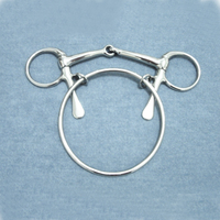 Stainless Steel Horse Bits 125 Mm Horse Racing Riding Bit Stainless Steel Butterfly Bits Equestrian Cheval