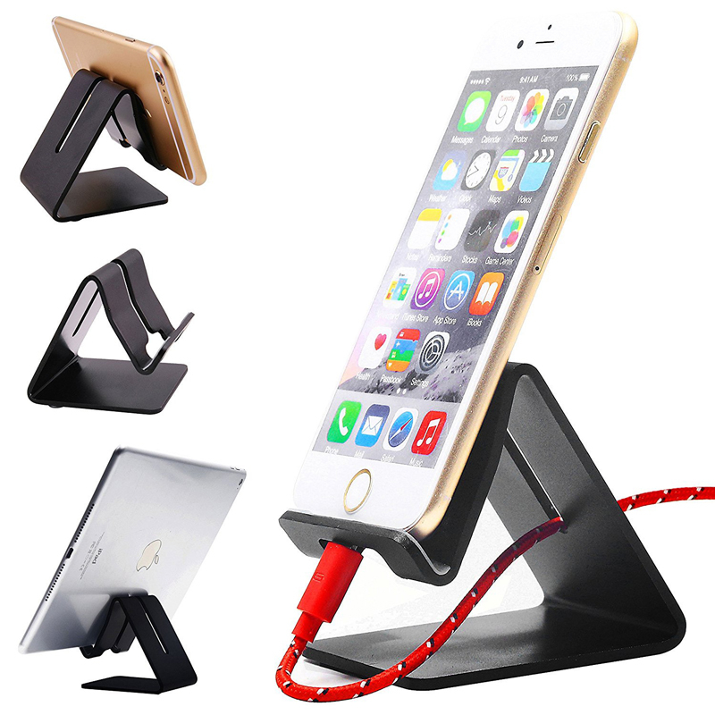 LISM Universal Portable Aluminum Alloy Desk Phone Stand Holder For iPhone 6 6s 7 Plus 5S Bed Office Desk Table Holder For Huawei