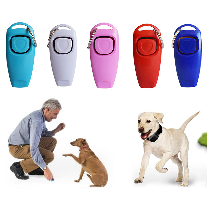 Puppy Large Dog Training Whistle Clicker Dog Pet Trainer Aid Guide Dog Supplies Portable Dog Clicker Whistle Trainer