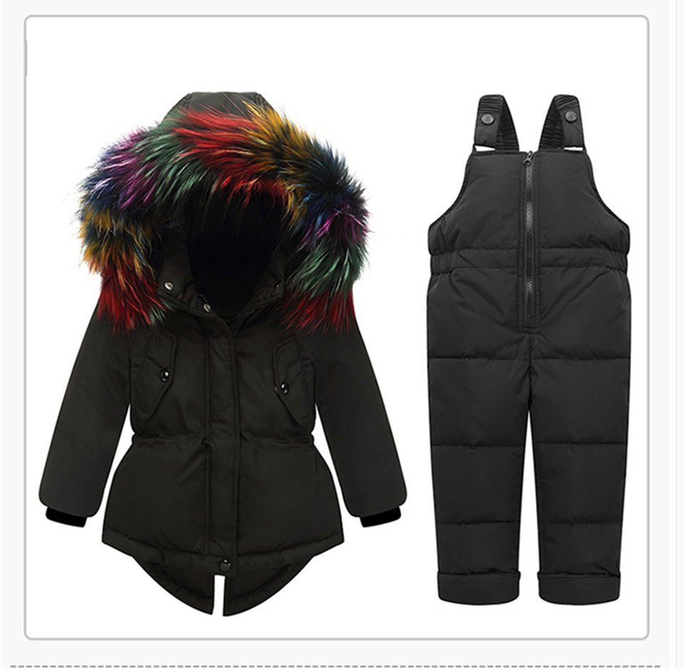 1-3-_17  Kids's Clothes Winter Lady Go well with Ski Jacket -30 Diploma Russian Boys Ski Sports activities Down Jacket +Jumpsuit Units Thicker Overalls HTB1YGfPwZyYBuNkSnfoq6AWgVXag