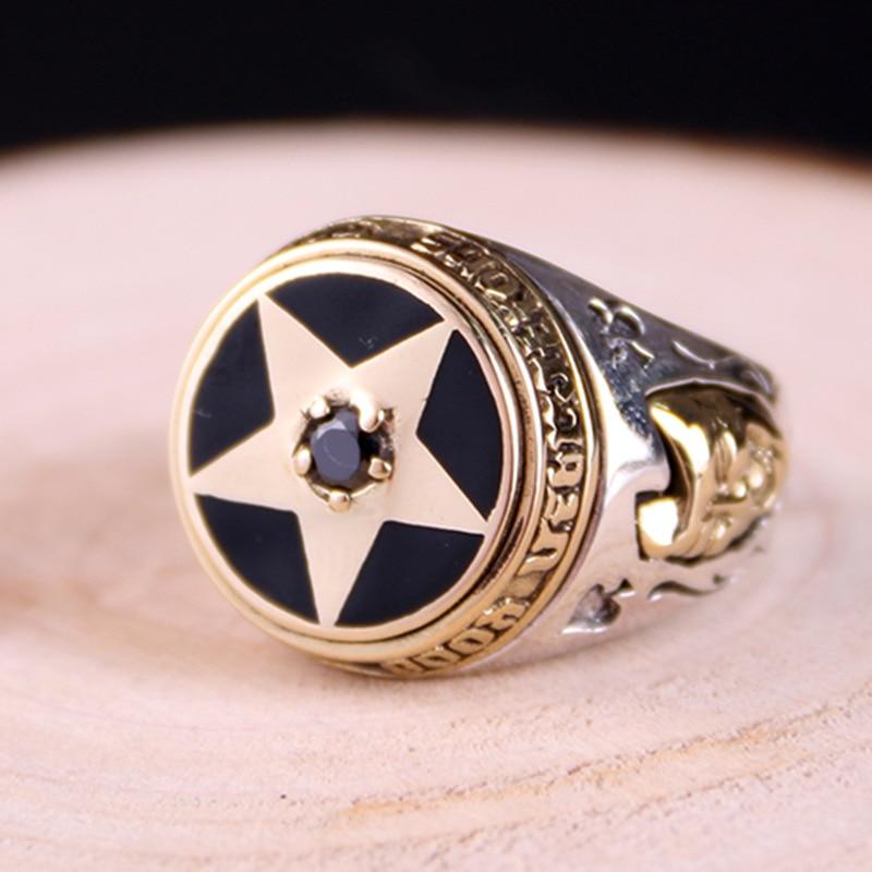 Pentagram wedding rings