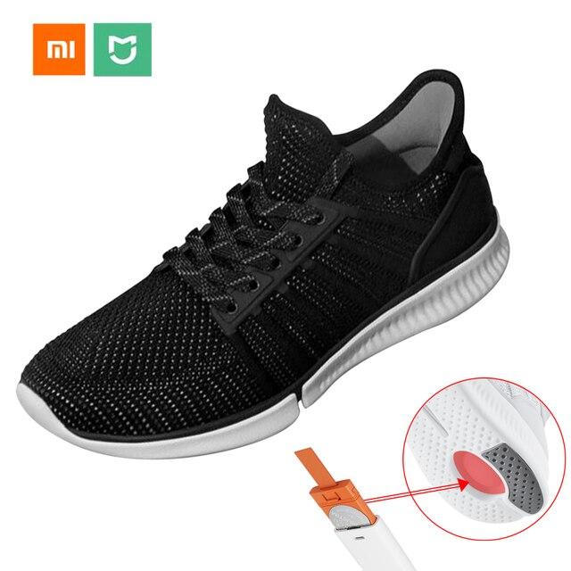 66a5284047 2017 Novos Sapatos Sapatos Xiaomi Xiaomi Mijia Inteligente de Corrida Inteligente  sapatos Chip Inteligente À Prova