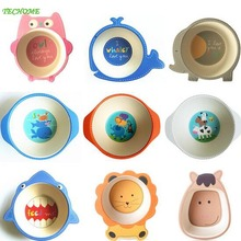High Quality Baby Dishes Children's Feeding Tableware Infant Baby Cartoon Dishes Children Plates Bowl Dinnerware Dishes Bowl