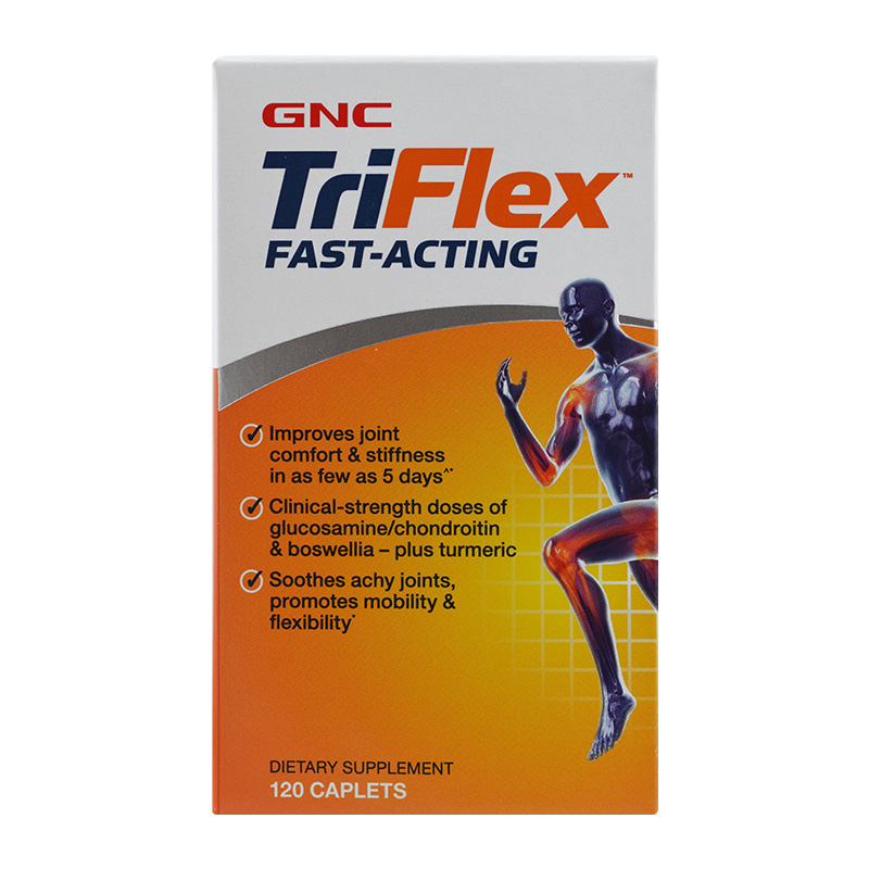 Triflex Fast-Acting Improves joint comfort & stiffness glucosamine/chondroitin & boswellia-plus turmeric 120 Pcs free shipping