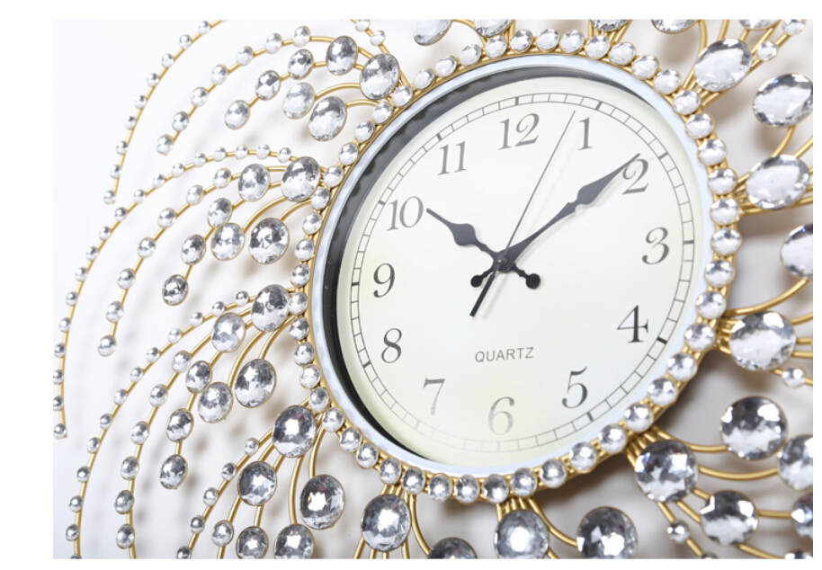 Home Decor Wall Clocks Modern Design Quartz Charming Metal Large Room European Style Clock Fashion Watches Ss6 In From