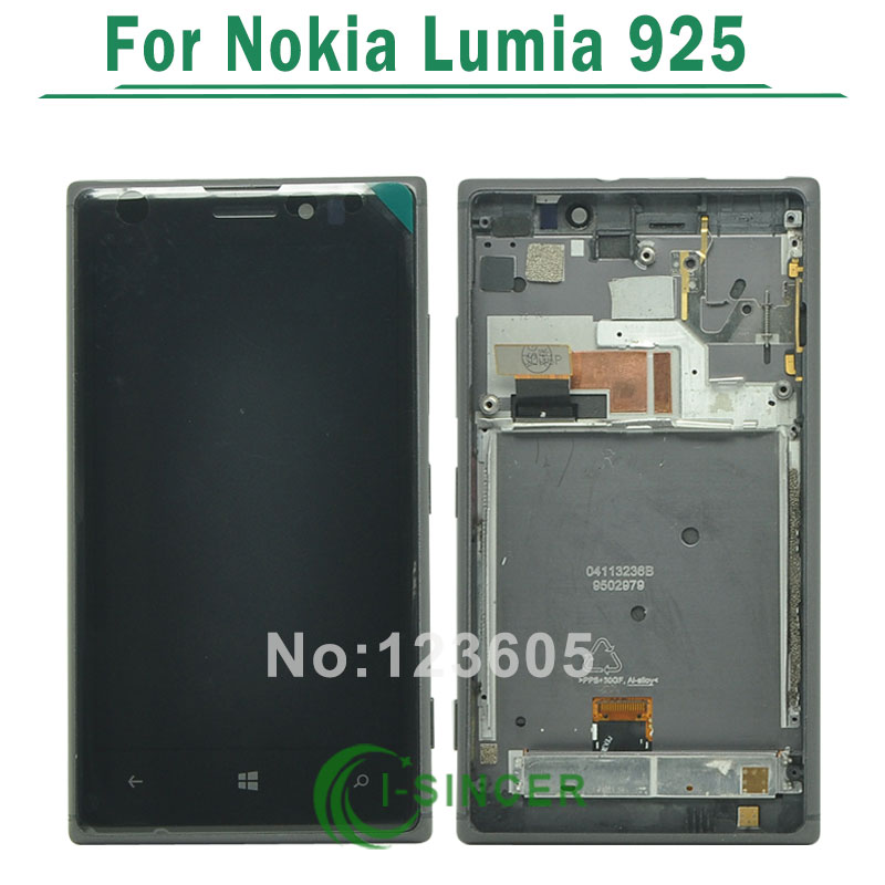 1/PCS LCD For Nokia Lumia 925 LCD Display Screen touch Digitizer Assembly with frame black
