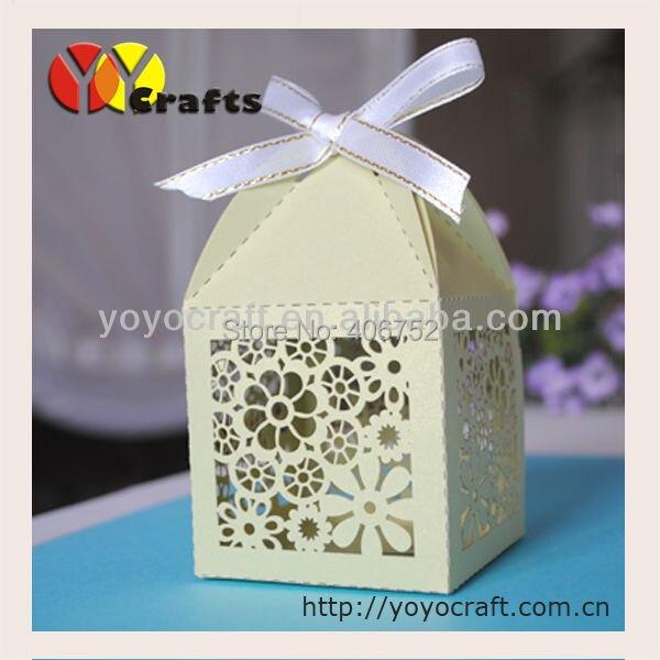 Уникальный лазерная резка бумаги свадебной зеленый цвет индивидуальная упаковка коробка сладкого