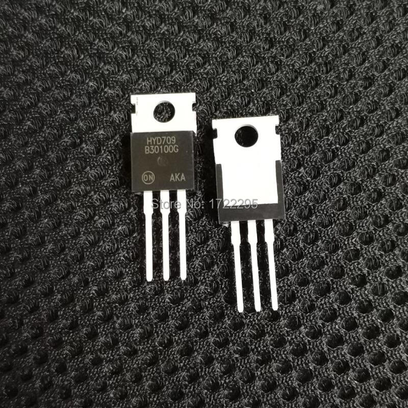 Free Shipping 50PCS MBR30100 schottky diode, 30A / 100V, TO-220 High Frequency Switching Power Supply