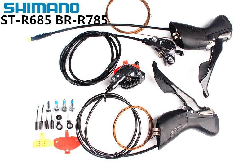 Shimano ST-RS685 + BR-RS785 гидравлический Postmount дисковый тормоз набор 2x11-speed Shifter & гидравлические дисковые тормоза суппорт дорожный MTB велосипед