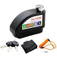 Bike Alarm Disc Lock Anti theft Brake Disc Security Alarm Electronic Lock 6mm Pin for Motorcycle Motorbike Safety Bicycle