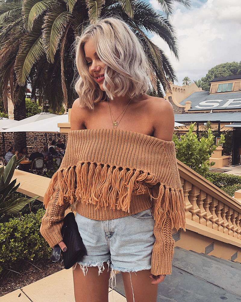 Off The Shoulder Sweater Women (8)