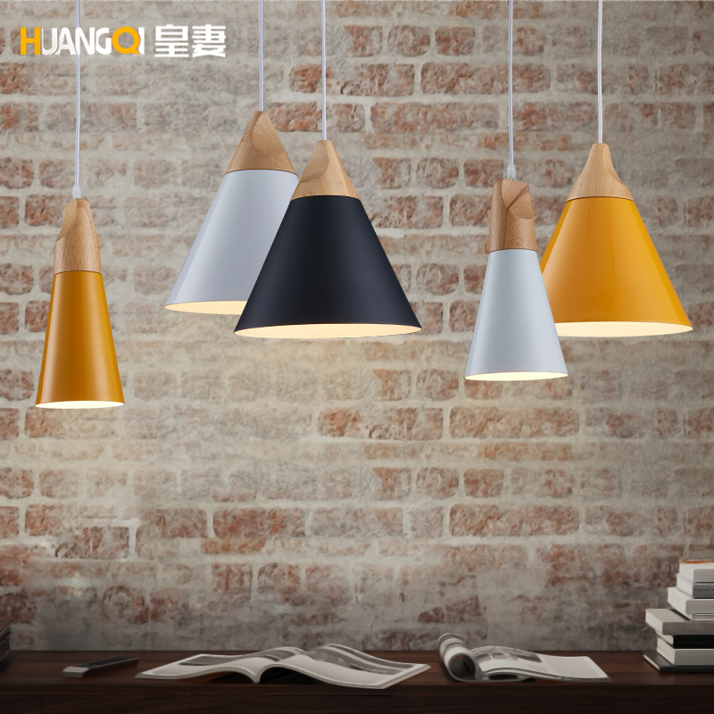 Nordic bedside table bedroom Cafe lamp Restaurant lamp personality simple single head lamp