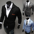 Men's Slim Blazer Formal Business Suit Button Pocket Lapel Long Sleeve Coat Top