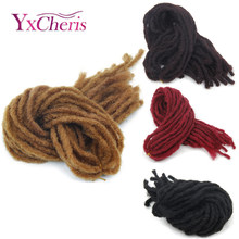 dreadlock faux locs crochet hair braid bob marley synthetic braiding hair extension janet collection dread locs kanekalon(China)