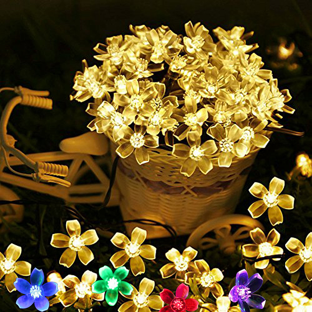 5M 10M USB Holiday Garland Outdoor Fairy Lights LED String Lights Waterproof Garden Christmas Decoration Flower Wedding Lights