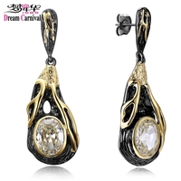 DC1989 Free Shipping 2016 New Vintage Design18K Gold Black Plated Cubic Zirconia Brass Lead Free Drop