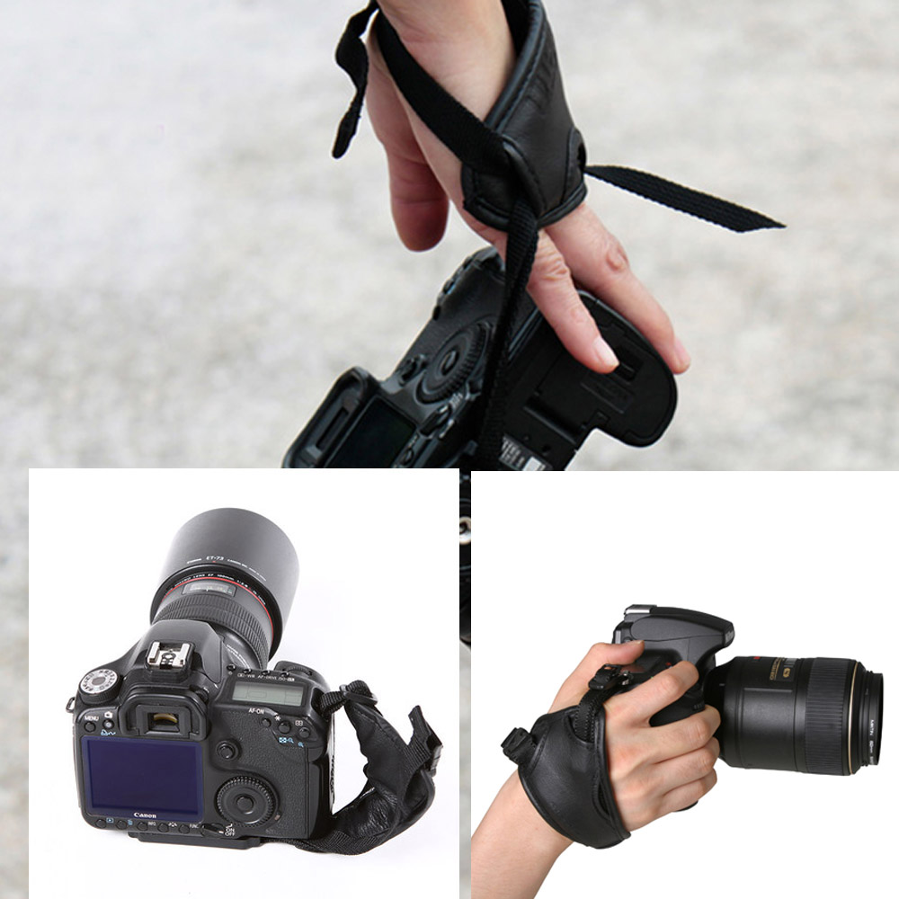 High quality camera grip PU Hand Grip Wrist Strap Photography Accessories for Nikon Canon Sony Camera