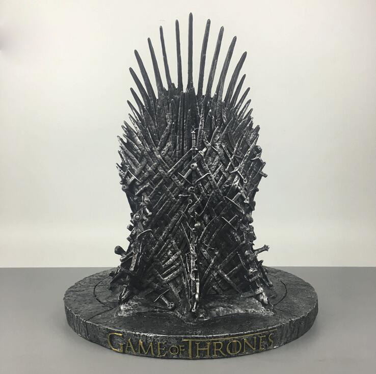 Game of Thrones action figure Toys Sword Chair Model Toy A Song of Ice and Fire The Iron Throne Resin Desk Collection Gift 17cm все цены