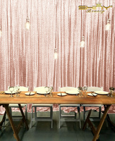ShinyBeauty 20FT X 10FT Blush Luxury Sequin Curtain for Photography Wedding Party
